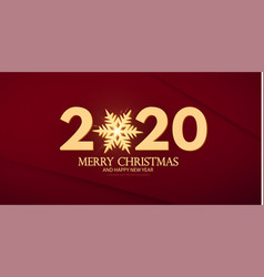 happy new 2020 year elegant text template vector image