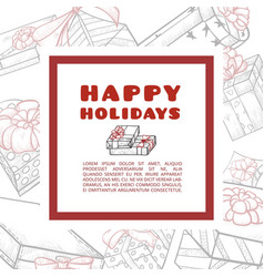 holidays hand drawn banner or frame vector image