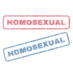 Homosexual textile stamps vector