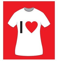I love t-shirt for women vector
