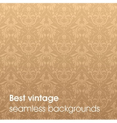 Light Brown Seamless Floral Background vector image