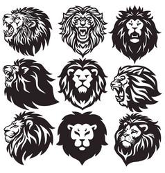 Lion logo set collection premium pack vector