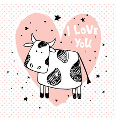 love cow vector image