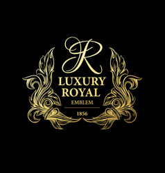 Luxury decorative ornament floral design logo vector
