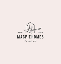 magpie homes house logo icon vector image