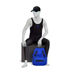 Male mannequin realistic composition vector