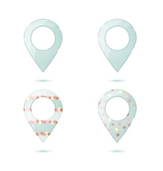 Map icons set vector image
