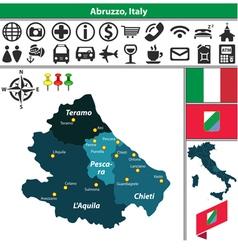 Map of Abruzzo vector