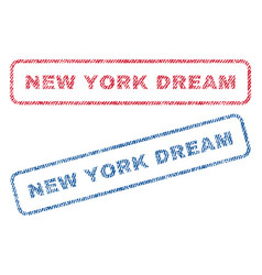 New york dream textile stamps vector
