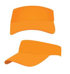 Orange visor cap vector
