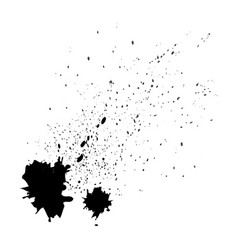 paint splat setpaint splashes set for design use vector image