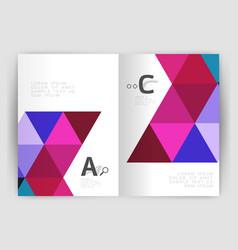 Print triangle modern print template vector