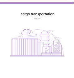 rail transportation of particularly heavy and bulk vector image