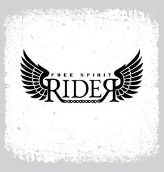 rider free spirit vector image