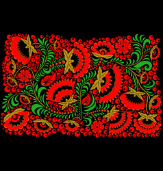 russian ethnic hohloma style background vector image