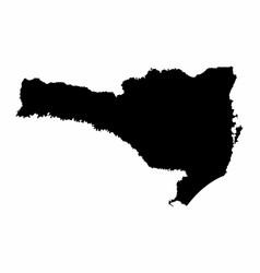 santa catarina state silhouette map vector image