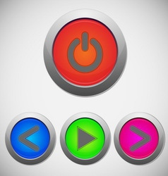Set of player sign buttons vector image