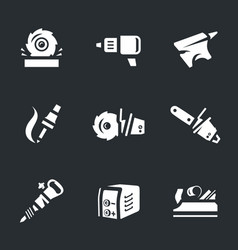 set of work tool icons vector image