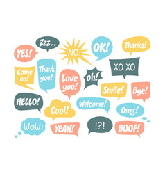 set speech bubbles and dialog balloons vector image