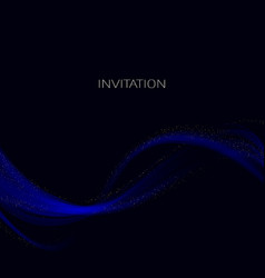 smooth smoke particle wave big data techno vector image