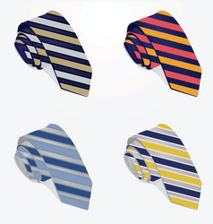 striped ties vector image