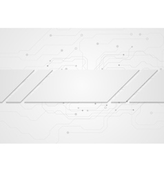 Tech grey abstract background with circuit board vector