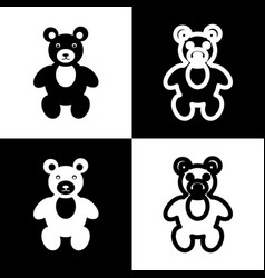 teddy bear sign black and vector image