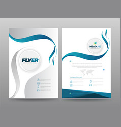 template annual report vector image
