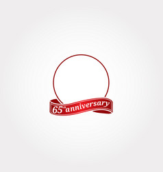 template logo 65th anniversary with a circle and vector image