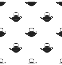 Tetsubin icon in black style isolated on white vector image