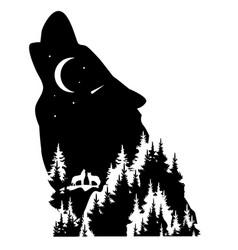 Wolf fantasy vector