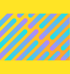 yellow background with multicolored diagonal lines vector image