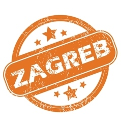 Zagreb round stamp vector