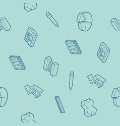 algebra outline isometric pattern vector image vector image