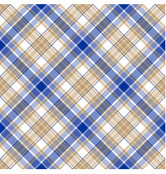 blue gold tartan seamless pattern vector image vector image