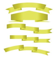gold ribbons vector image
