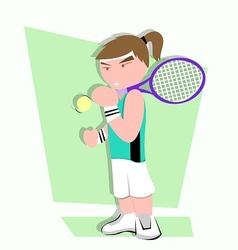 tennis player cartoon vector image vector image