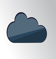 blue cloud vector image vector image