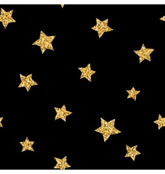 Stars seamless pattern gold vector