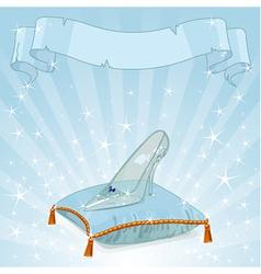 Crystal slipper background vector image vector image