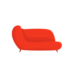 red couch living room or office interior vector image vector image