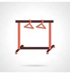 Store cloth rack flat color design icon vector image