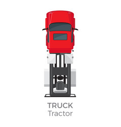 truck tractor on red car service transport item vector image