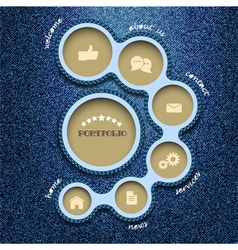 web design template Denim style vector image vector image