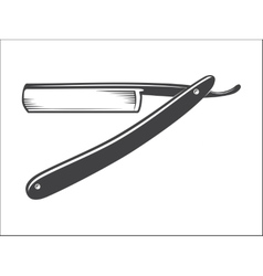Old Straight razor vector image