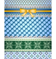 Set of patterns and borders for scrapbooking vector image