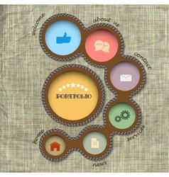 web design template Retro style vector image vector image