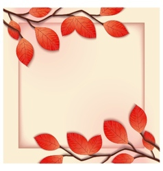 3D floral frame template vector image