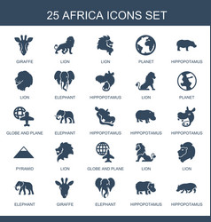 Africa icons vector