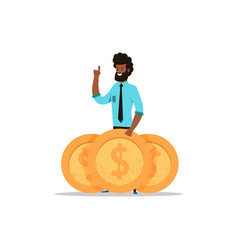 afroamerican business man vector image